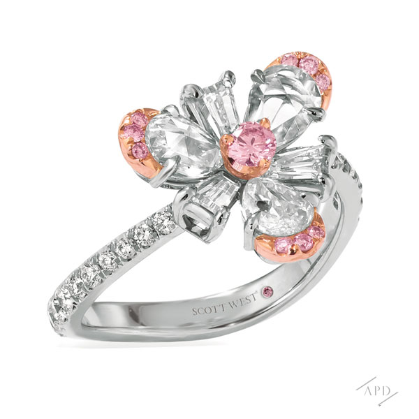 Sakura Flower Accented Ring by Scott West™