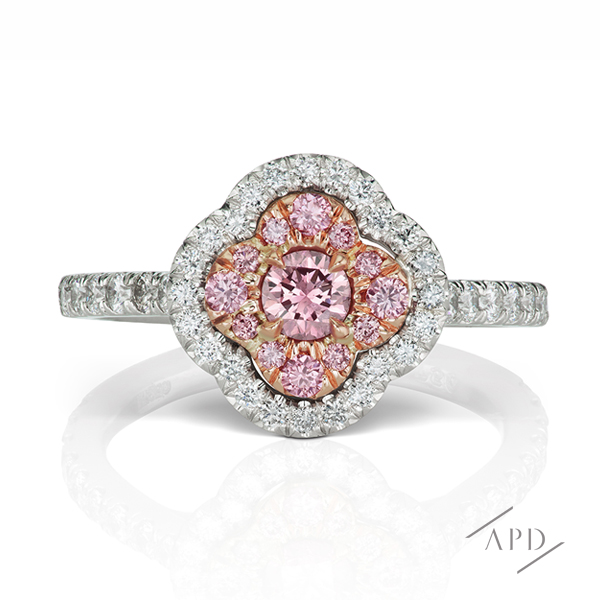 Argyle Pink Azalea Halo Ring