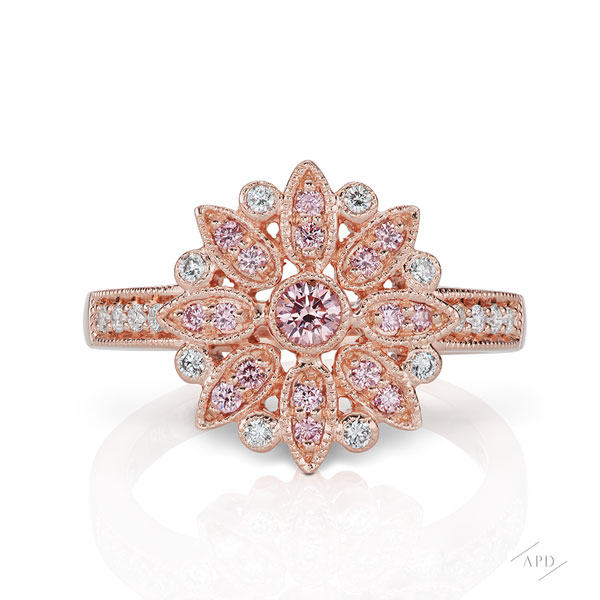 Argyle Pink Gold Bloom Ring
