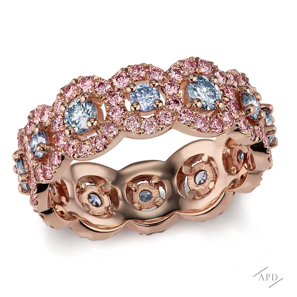 Argyle Pink and Blue Eternity Band
