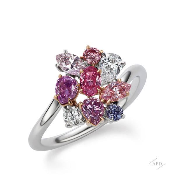 Argyle Flower Bouquet Ring