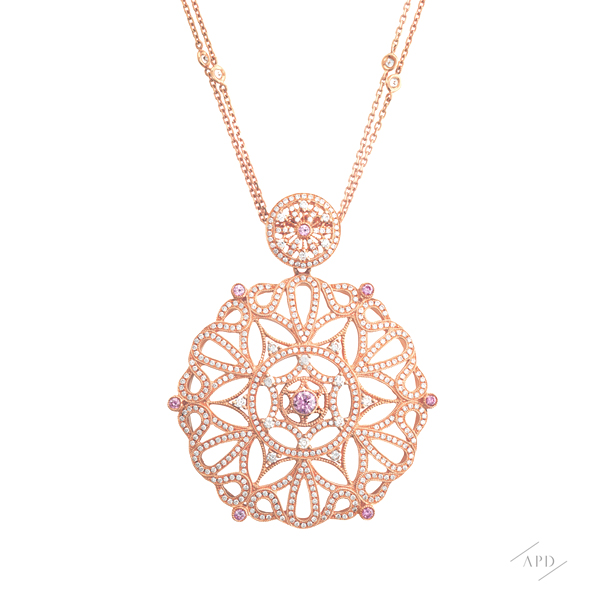 Argyle Pink Gold Medallion Necklace