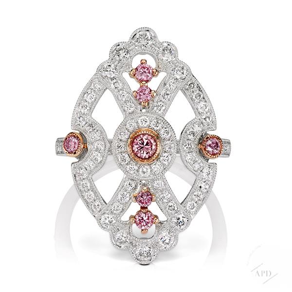 Argyle Art Deco Ring